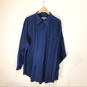 Vintage Carrington mens dress shirt distressed